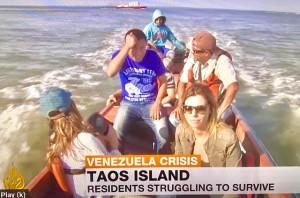 Venezuela in crisis - Al-Jazeera TV image (Photo by Erol Avdovic, UN New York WebPublicaPress -- free use for education only)