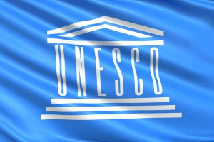 UNESCO on the blue flag (WPP archive for education only)