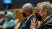 Antonio Guterres with the mask 2020 UN (Courtesy UN photo for education only).
