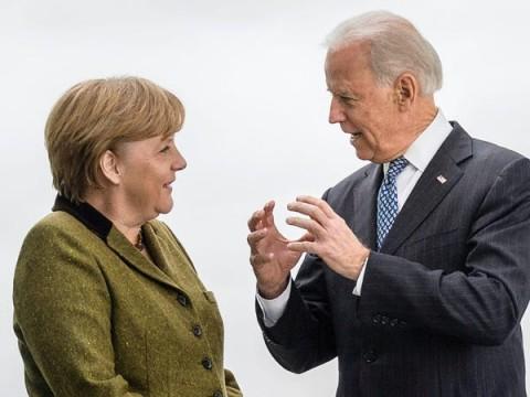 Angela Merkel and Joe Biden (WPP photo file for education only)