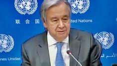Antonio Guterres UN Secretary General (28 January 2021 virtual photo by Erol Avdovic - WebPublicaPress)