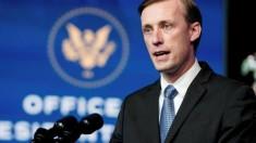Jake Sullivan White House National Security Adviser to president Joe Biden (File photo TV image for education only)