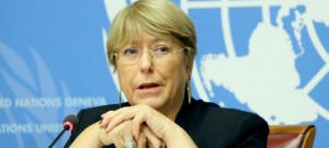Michelle Bachelet, UN High Commissioner for Human Rights. (UN photo for education only)