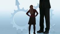 Discrimination against women - illustration for education only