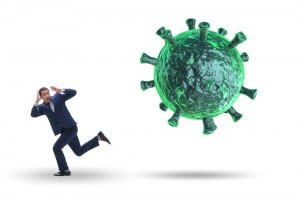 Pandemic fear huge as virus infection (Courtesy photo illustration for education only)