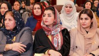 UN Women/ Nangyalai Tanai Afghan parliament members attend a meeting on women in decision-making positions. (UN file photo)