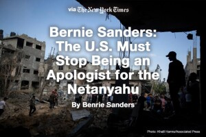 Senator Bernie Sanders on US foreign policy in the Middle East (The New York Times)