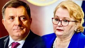 Milorad Dodik i Bisera Turković (Photo montage BH. media June 2021, for education only)