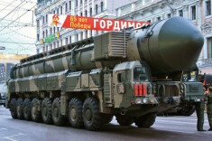 Russian strategic arms on a parade (Courtesy photo for education only)