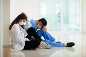 Health workers burned out by permanent care of Covid-19 patients (Photo illustration 2020/2021 for education only)