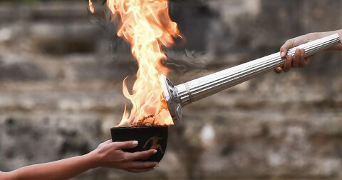 Olympic fire (Courtesy photo for education only)